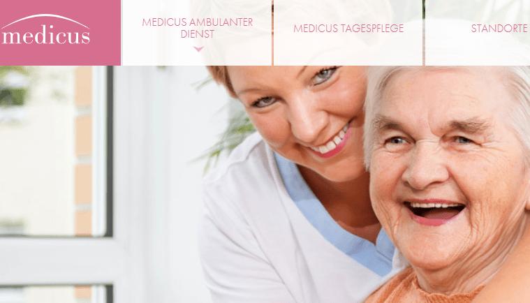 Neue Website Medicus Ambulanter Dienst